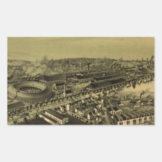Vintage Pictorial Map of Altoona PA (1895) Rectangular Sticker