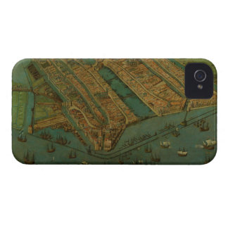 Vintage Pictorial Map of Amsterdam (1538) iPhone 4 Case-Mate Case
