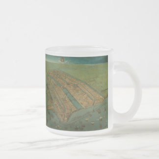 Vintage Pictorial Map of Amsterdam (1538) Coffee Mug