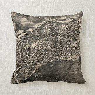 Vintage Pictorial Map of Aspen Colorado (1893) Throw Pillow