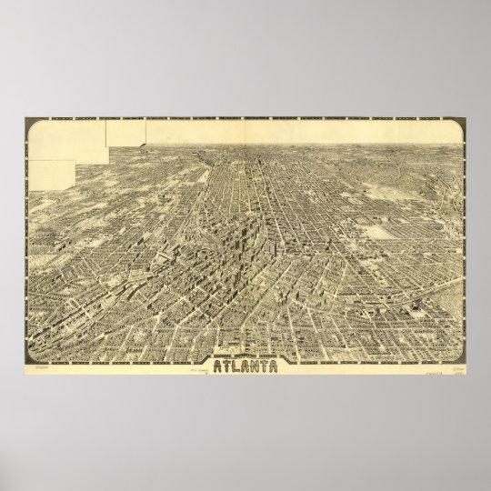 Vintage Pictorial Map of Atlanta Georgia (1919) Poster