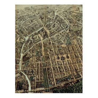 Vintage Pictorial Map of Berlin (1871) Postcard