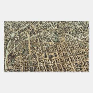 Vintage Pictorial Map of Berlin (1871) Rectangular Sticker