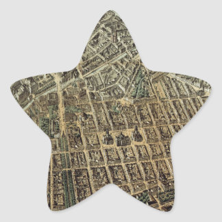 Vintage Pictorial Map of Berlin (1871) Star Sticker