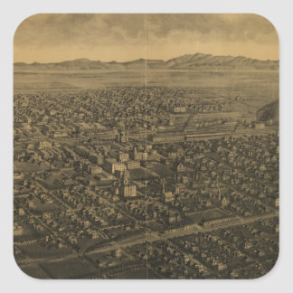 Vintage Pictorial Map of Billings Montana (1904) Square Sticker