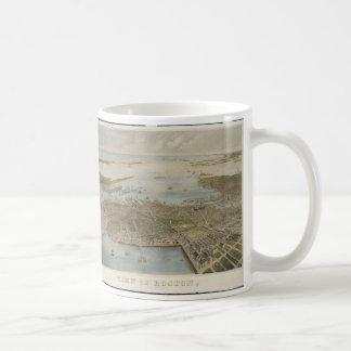 Vintage Pictorial Map of Boston (1870) (2) Basic White Mug
