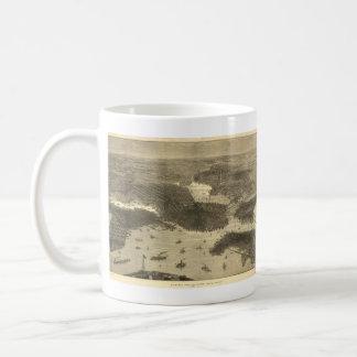 Vintage Pictorial Map of Boston (1870) Coffee Mug