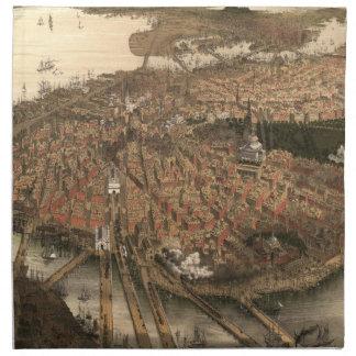 Vintage Pictorial Map of Boston (1877) Napkin