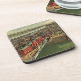 Vintage Pictorial map of Boston (1902) Coasters