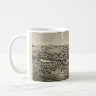 Vintage Pictorial Map of Caribou Maine (1893) Coffee Mug
