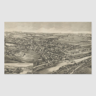 Vintage Pictorial Map of Caribou Maine (1893) Rectangular Sticker