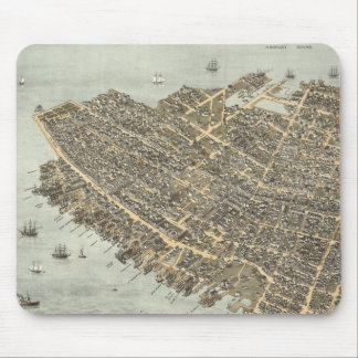 Vintage Pictorial Map of Charleston (1872) Mouse Mat