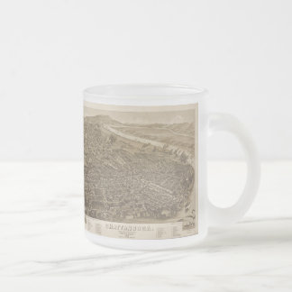 Vintage Pictorial Map of Chattanooga (1886) Frosted Glass Mug