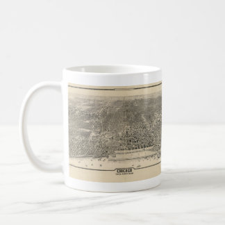 Vintage Pictorial Map of Chicago (1916) Mugs
