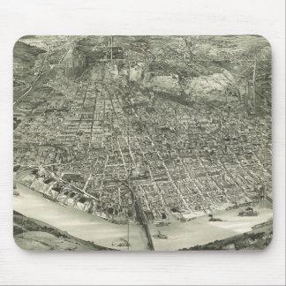 Vintage Pictorial Map of Cincinnati (1900) Mouse Pad