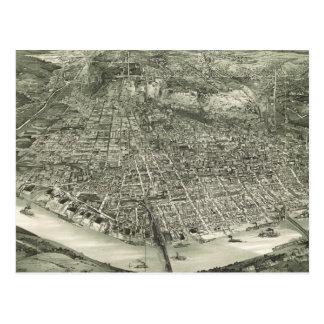 Vintage Pictorial Map of Cincinnati (1900) Postcard