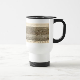 Vintage Pictorial Map of Cleveland (1877) Stainless Steel Travel Mug