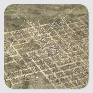 Vintage Pictorial Map of Columbia SC (1872) Square Sticker