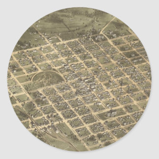 Vintage Pictorial Map of Columbia SC (1872) Round Sticker