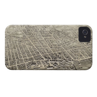 Vintage Pictorial Map of Concord NH 1875 iPhone 4 Case-Mate Case