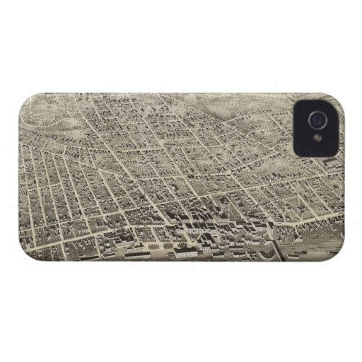 Vintage Pictorial Map of Concord NH (1875) iPhone 4 Case-Mate Case
