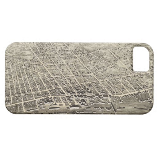 Vintage Pictorial Map of Concord NH (1875) iPhone 5 Covers