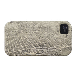 Vintage Pictorial Map of Concord NH 1875 Vibe iPhone 4 Case