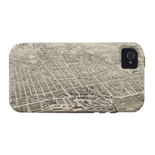 Vintage Pictorial Map of Concord NH (1875) Vibe iPhone 4 Case