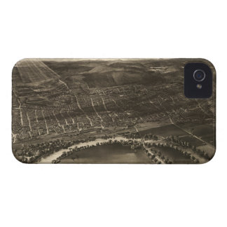 Vintage Pictorial Map of Concord NH 1899 iPhone 4 Cover