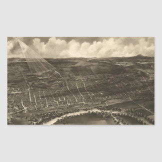 Vintage Pictorial Map of Concord NH (1899) Rectangular Sticker