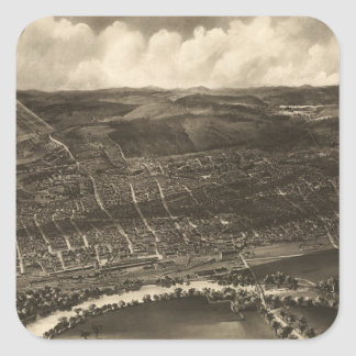 Vintage Pictorial Map of Concord NH (1899) Square Sticker