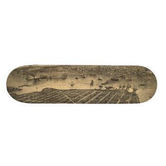Vintage Pictorial Map of Coronado Beach (1880) Skate Board