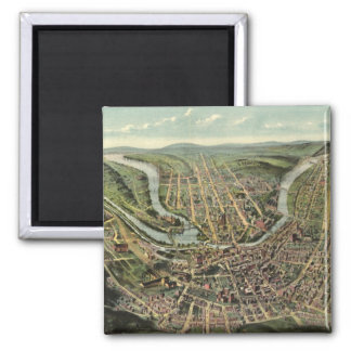 Vintage Pictorial Map of Cumberland MD (1906) Magnet