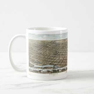 Vintage Pictorial Map of Dayton Ohio (1870) Coffee Mug
