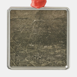 Vintage Pictorial Map of Denver Colorado (1887) Christmas Ornament