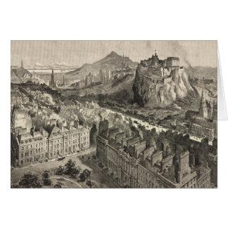 Vintage Pictorial Map of Edinburgh Scotland (1886) Card
