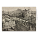 Vintage Pictorial Map of Edinburgh Scotland (1886) Greeting Card