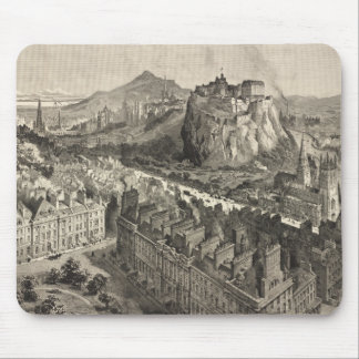 Vintage Pictorial Map of Edinburgh Scotland (1886) Mouse Mat