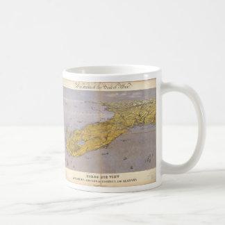 Vintage Pictorial Map of Florida (1861) Basic White Mug