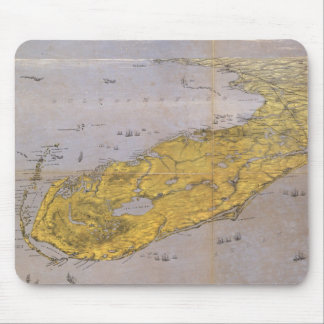 Vintage Pictorial Map of Florida (1861) Mouse Pad
