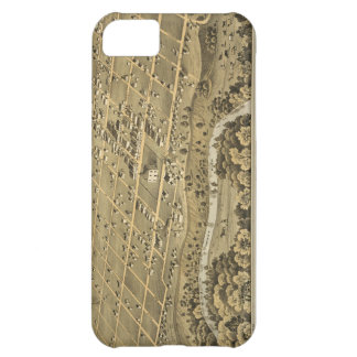 Vintage Pictorial Map of Fort Worth Texas 1876 iPhone 5C Cover