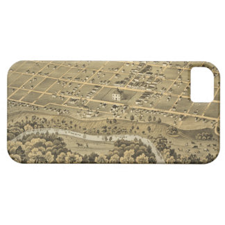 Vintage Pictorial Map of Fort Worth Texas (1876) iPhone 5 Cover