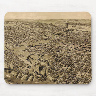 Vintage Pictorial Map of Fort Worth TX (1891) Mouse Pad