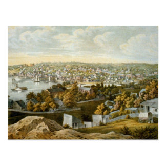 Vintage Pictorial Map of Georgetown (1855) Post Card