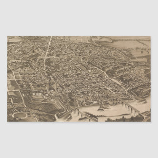 Vintage Pictorial Map of Knoxville (1886) Sticker