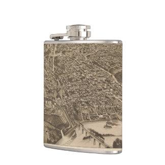 Vintage Pictorial Map of Knoxville (1886) Hip Flasks