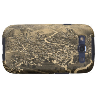 Vintage Pictorial Map of Lancaster NH 1883 Samsung Galaxy S3 Case