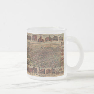 Vintage Pictorial Map of Los Angeles (1891) Frosted Glass Mug
