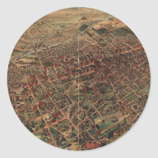 Vintage Pictorial Map of Los Angeles (1891) Round Sticker