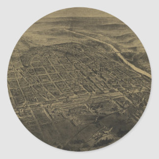 Vintage Pictorial Map of Macon Georgia (1912) Stickers